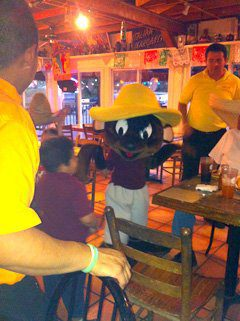 La Chalupa - Person in Mouse Costume Entertaining Kids